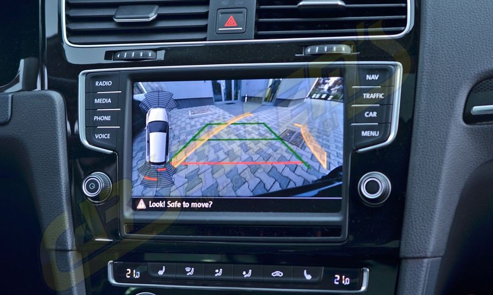 genuine volkswagen oem retrofit kit rear view camera. Black Bedroom Furniture Sets. Home Design Ideas