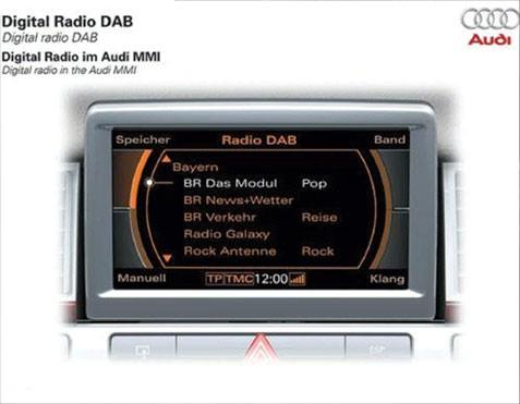 genuine audi oem retrofit kit dab radio a1 8x vag. Black Bedroom Furniture Sets. Home Design Ideas